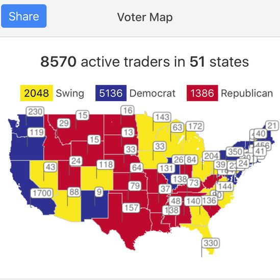Map of voteswapping
