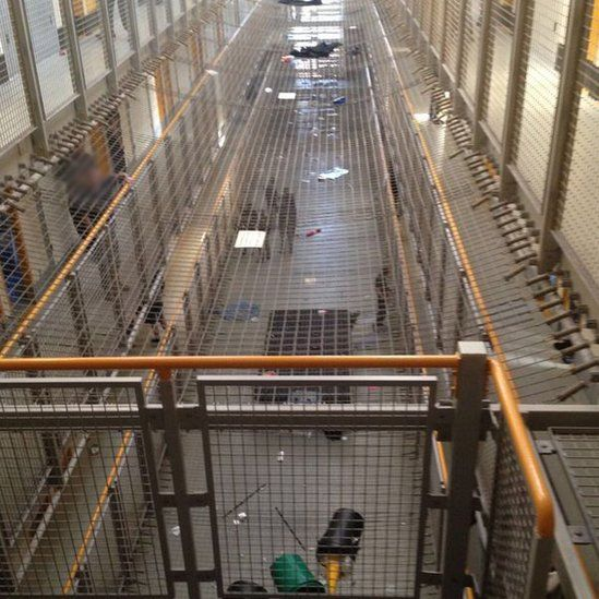 Unverified picture from inside the prison