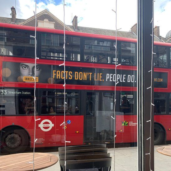 The Michael Jackson ads on a bus