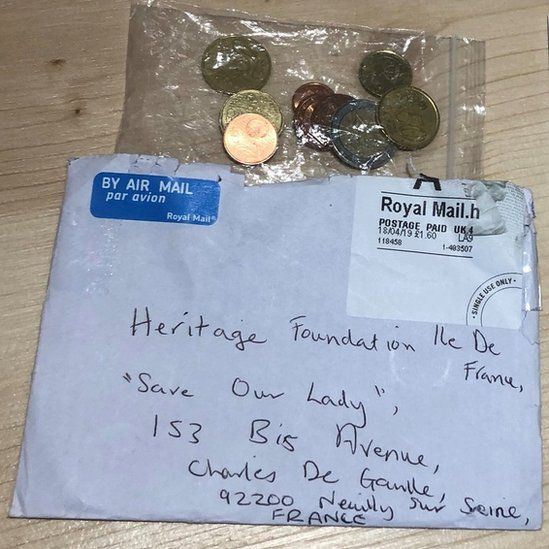 A donation made by a nine-year-old British girl to the Notre-Dame