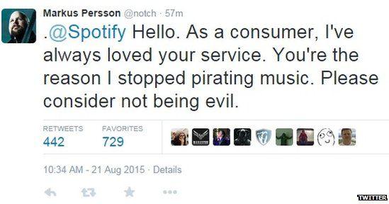 Notch's tweet
