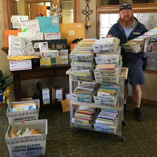 Postman delivers hundreds of birthday cards for Joe