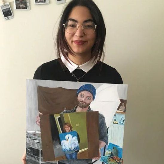 'Took a while and not perfect, but I painted the guy who painted the other guy's mum' said Reddit user lillyofthenight