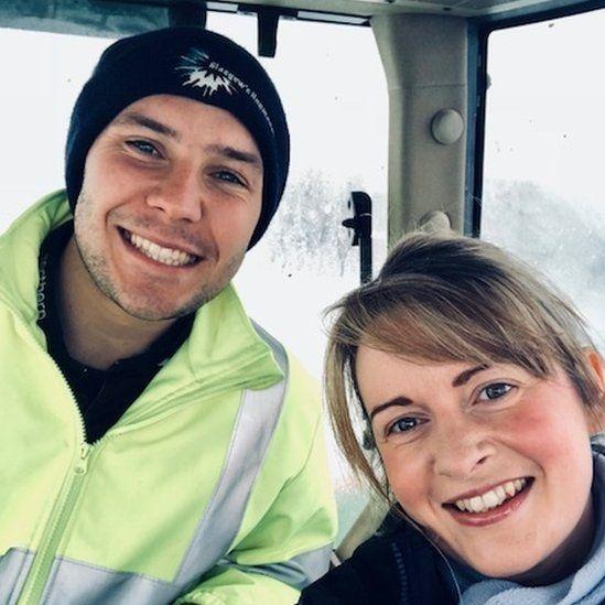 Farmer Grant Neilson and nurse Louise Lawrie