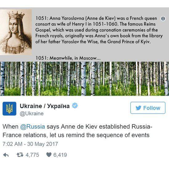 Screen grab of tweet by @Ukraine