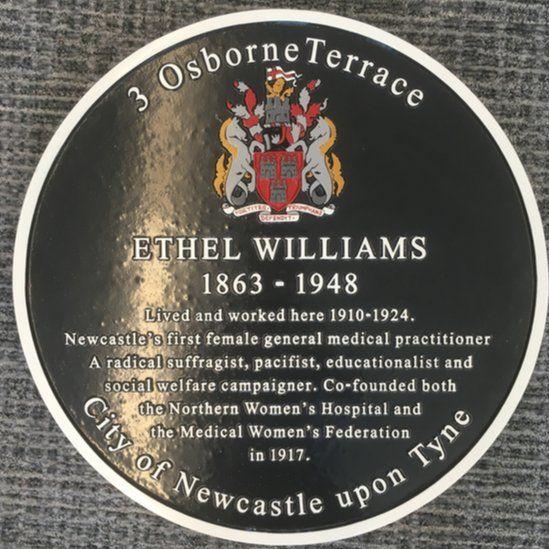 Ethel Williams plaque