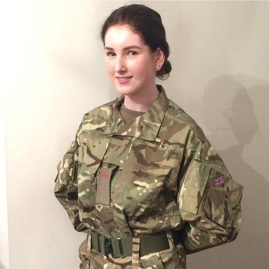 Gracie in CCF uniform