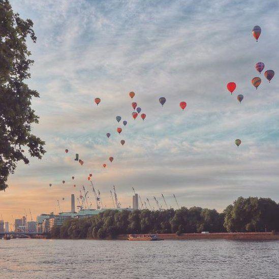 Balloon over London