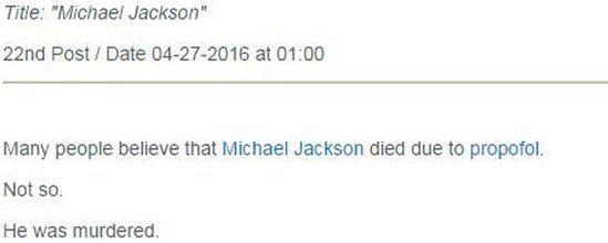 Michael Jackson post