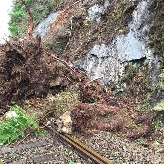 Rail line damage