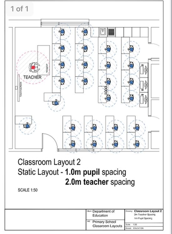 A diagram showing a classroom with 26 pupils