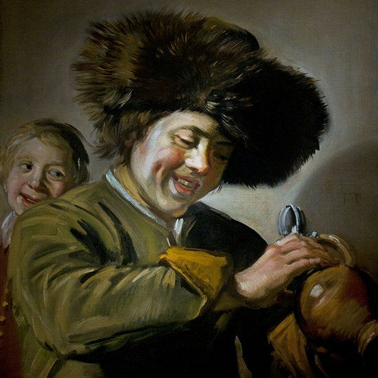 Two Laughing Boys by Frans Hals