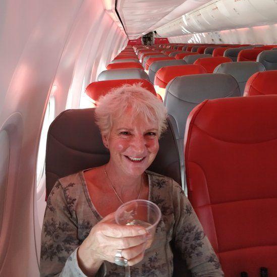 Karon Grieve on empty Jet2 flight