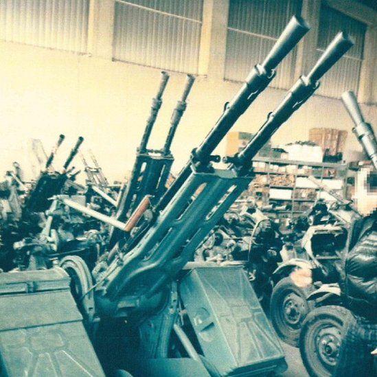 An east European arms warehouse found Italian authorities