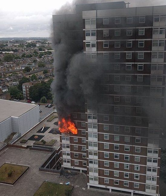 Fire in Shepherd's Bush tower block