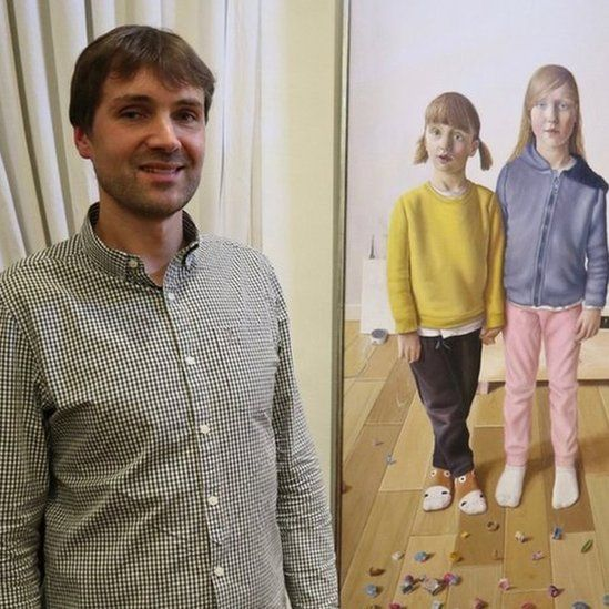 Saul Robertson and painting