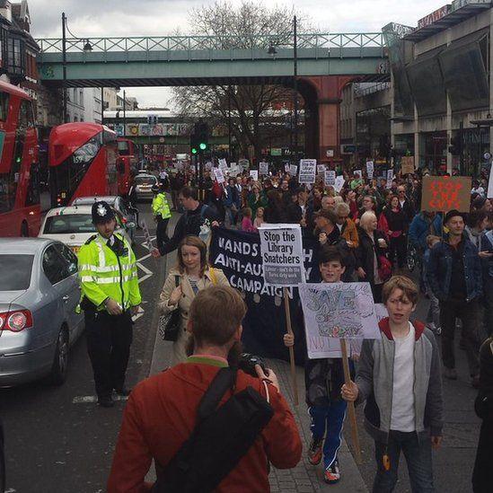 March down Brixton high street