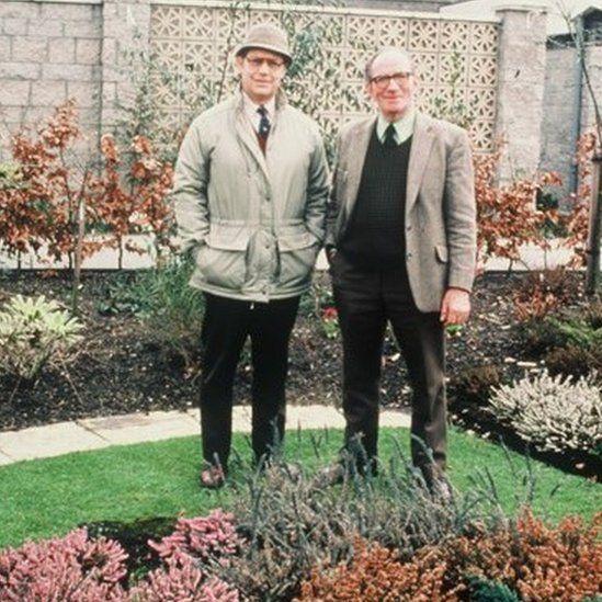 Jim McColl with former co-presenter George Barron