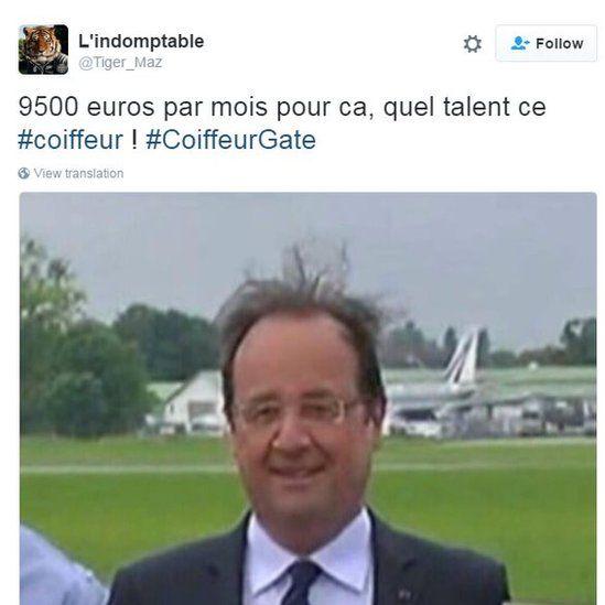9500 euros par mois pour ca, quel talent ce #coiffeur ! #CoiffeurGate