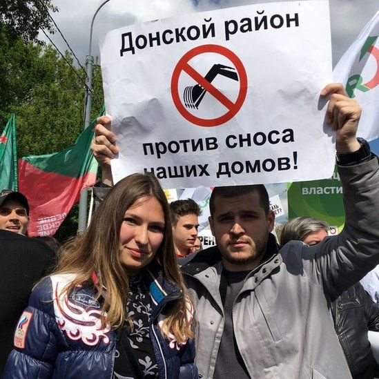 Moscow protest against demolitions