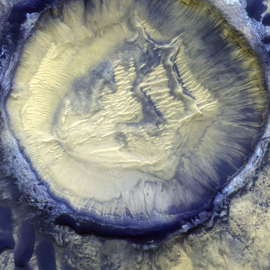 Moni Crater in the Kaiser Crater Basin