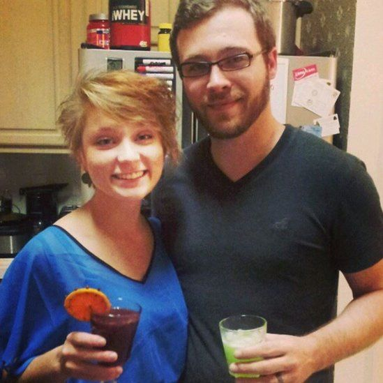Picture of the couple at a party