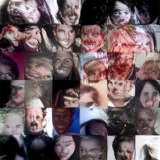 Nightmare machine generated faces