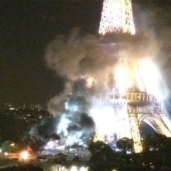 Did terrorists try to blow up the Tour Eiffel?