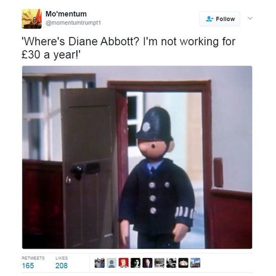 'Where's Diane Abbott? I'm not working for £30 a year!'