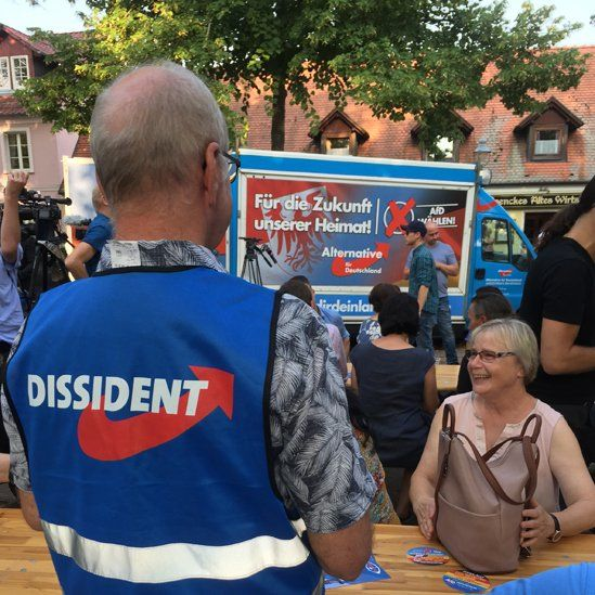 AfD campaigning, Aug 2019