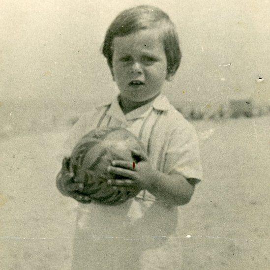 Henri Dyner before his family fled Belgium