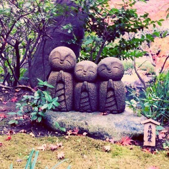 Stone statues Hasedera Temple in Kamakura, Japan