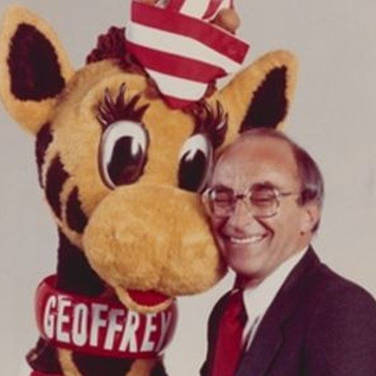 the founder with the company mascot