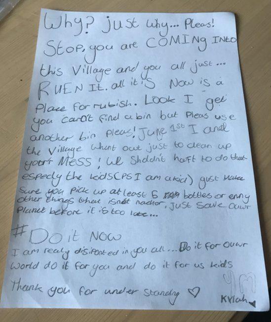 Kylah's letter