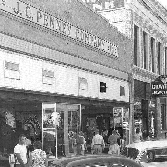 A JC Penney store in Denver in 1957