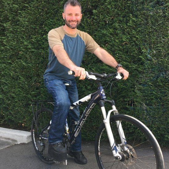 Andrew Loys reunited with his bike