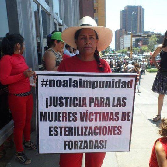 Victoria Vigo at a protest