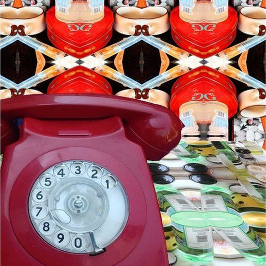 A telephone that plays recordings of people's 'dirty stories'