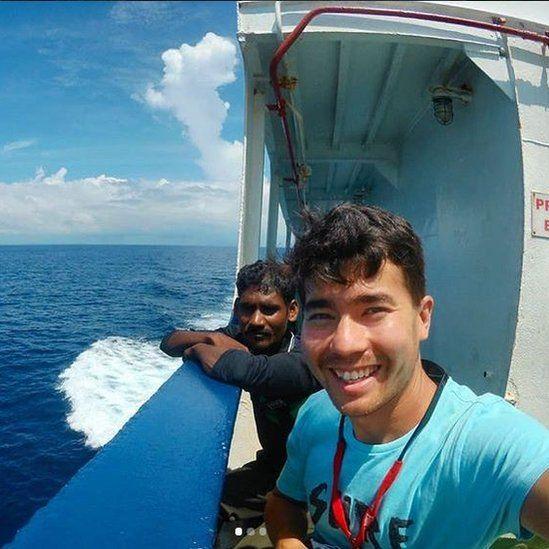 John Chau on a boat