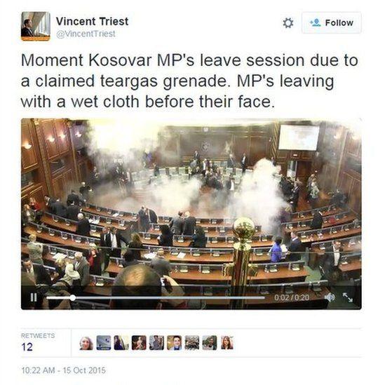 Screengrab of tweet from @VincentTriest