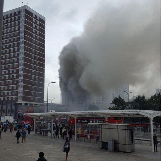 Fire in Shepherd's Bush tower block