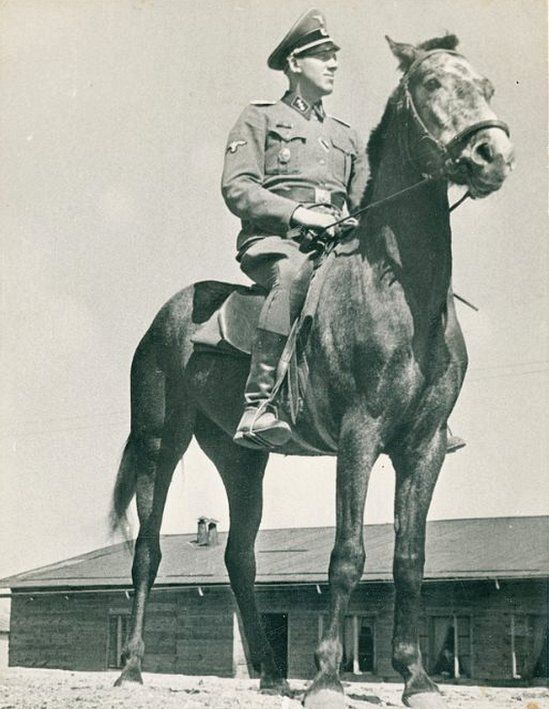 Niemann on horseback at Sobibor