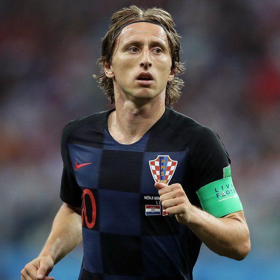 Luka Modric against Denmark, 1 Jul 18