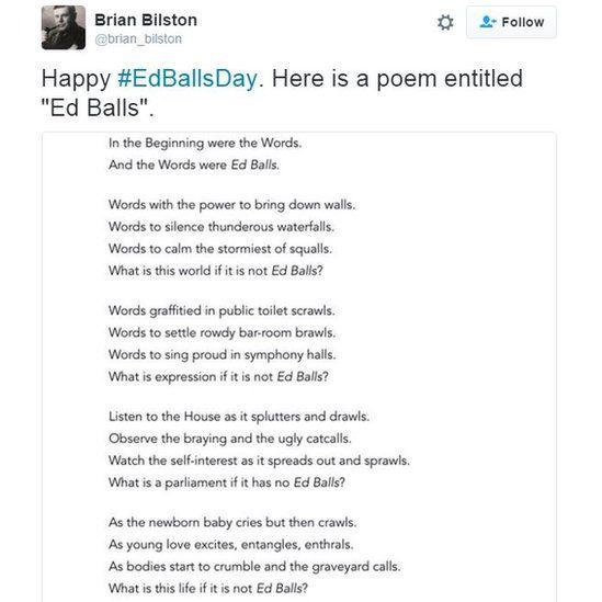Happy #EdBallsDat. Here is a poem entitled Ed Balls