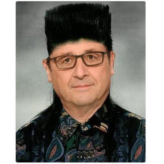 Piv of Hollande with spiky hair