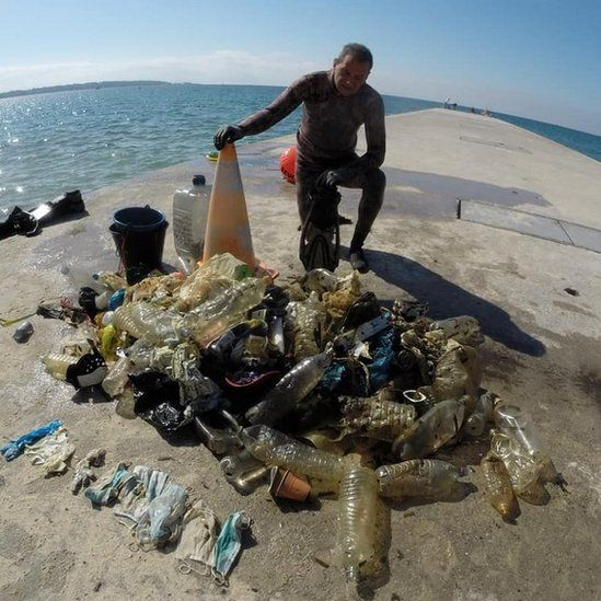 Seabed litter found at Golfe-Juan