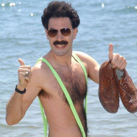 Sacha Baron Cohen/Borat poses for photographers