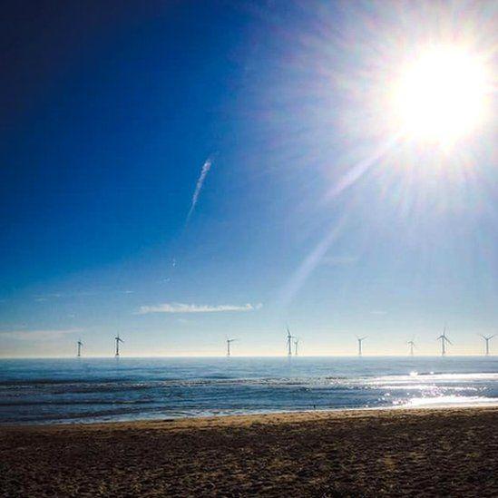 Turbines seen from Balmedie