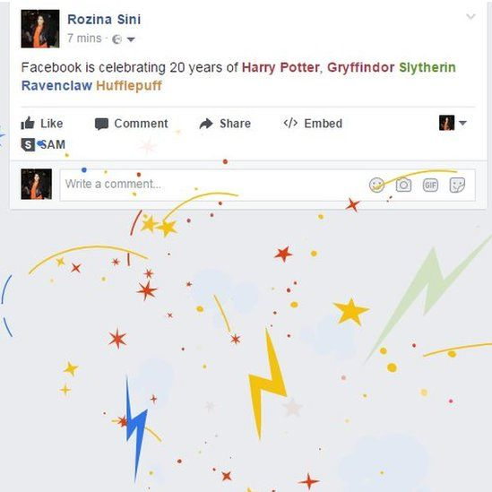 Facebook is celebrating 20 years of Harry Potter, Gryffindor Slytherin Ravenclaw Hufflepuff