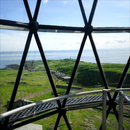 View of Firth of Forth from a lighthouse on the Isle of May.